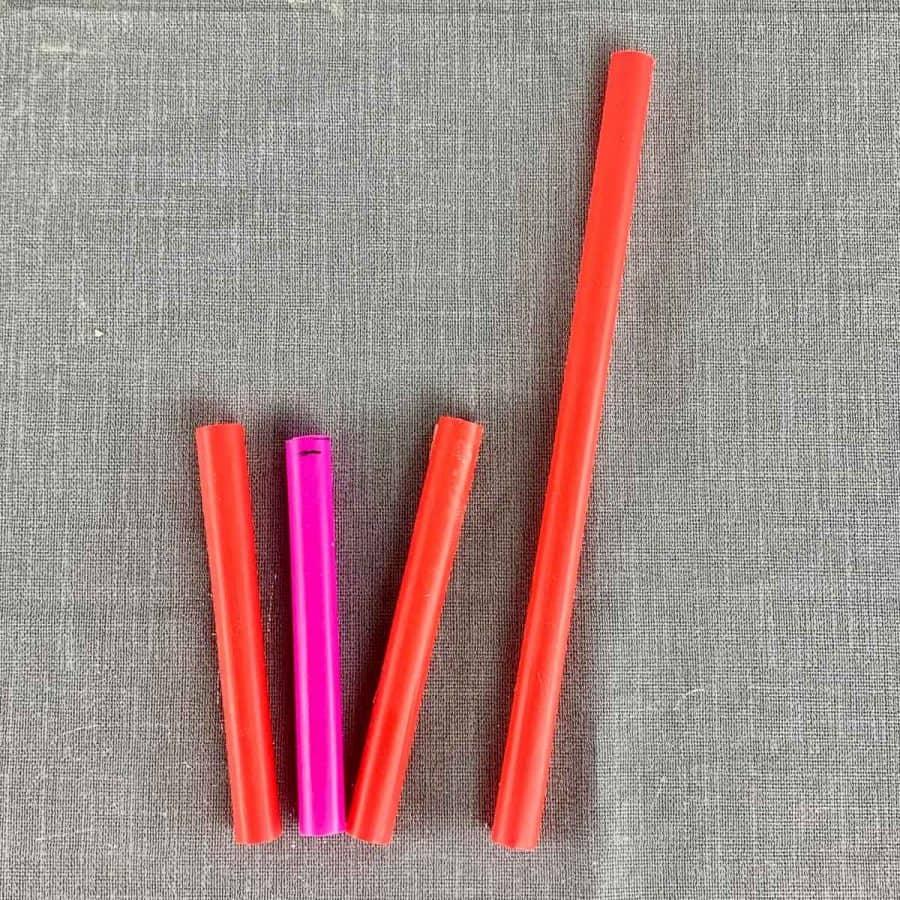 straws cut in half