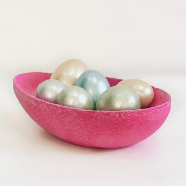 Simple Colored Concrete Easter Bowl