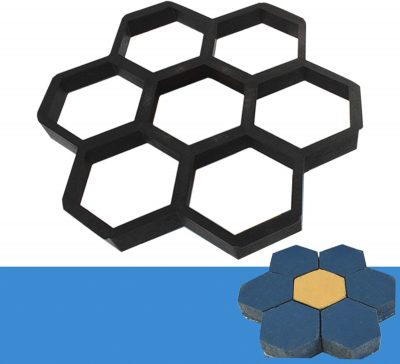 honeycomb shaped concrete mold