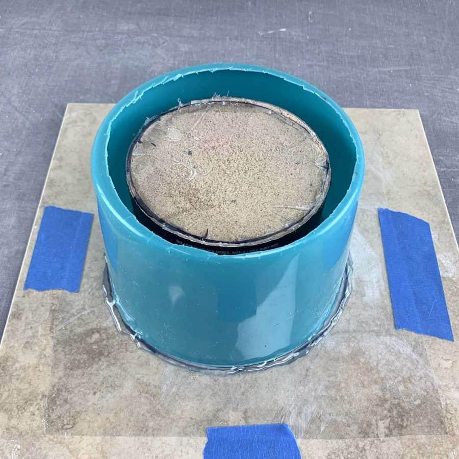 molds glued to base