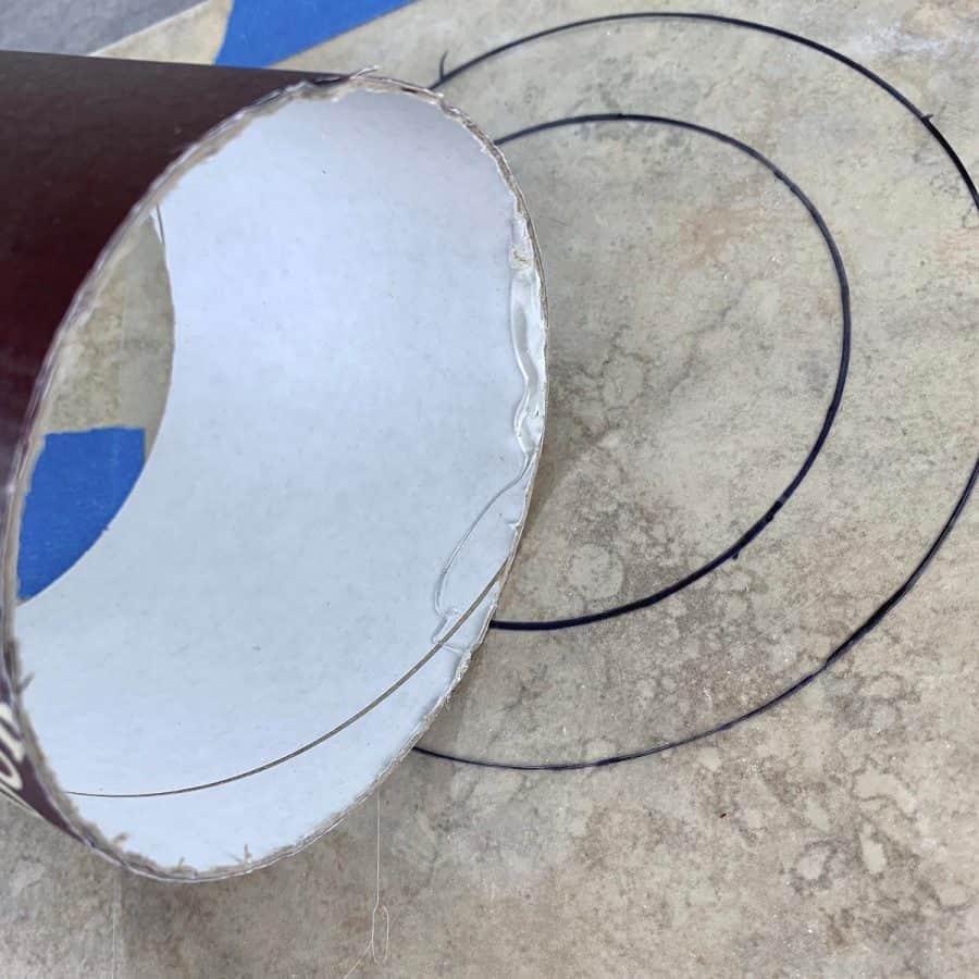 gluing inner mold to base