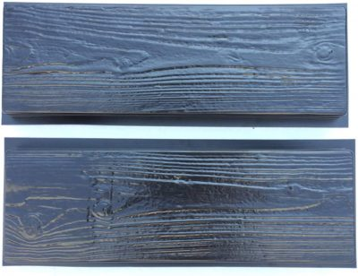 wood plank mold for concrete
