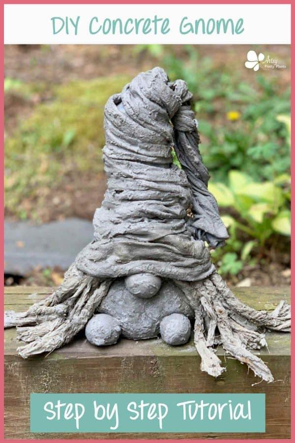 DIY Concrete Garden Gnome