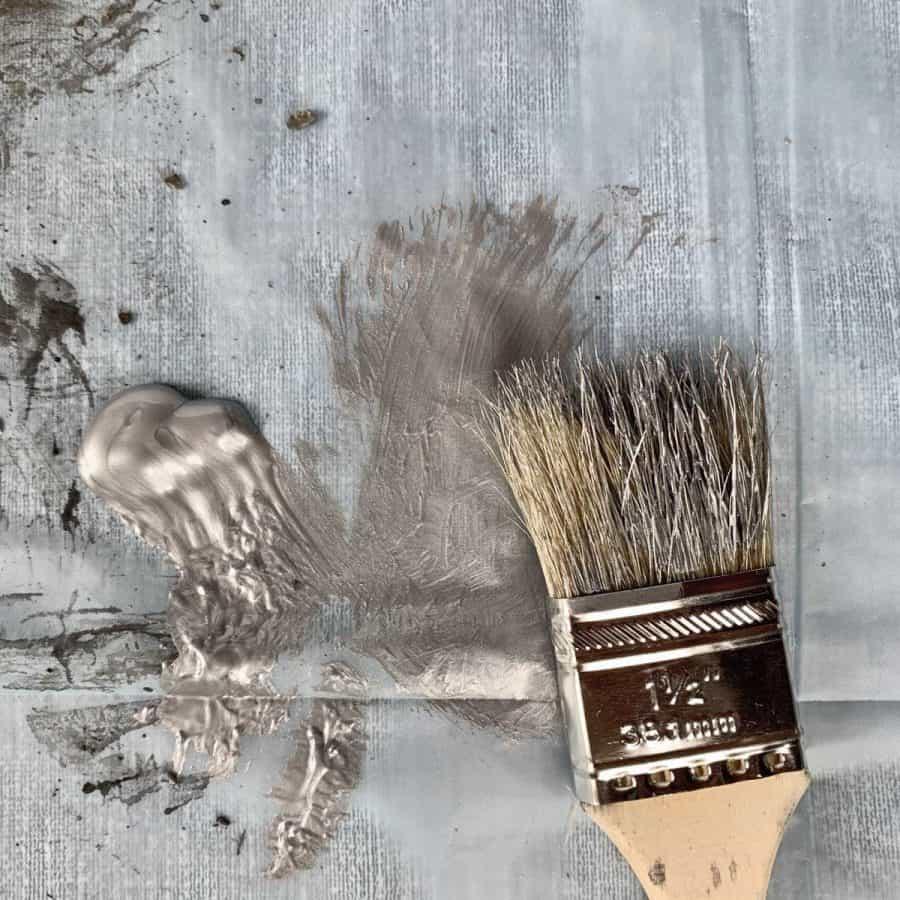 dry brush with metallic paint