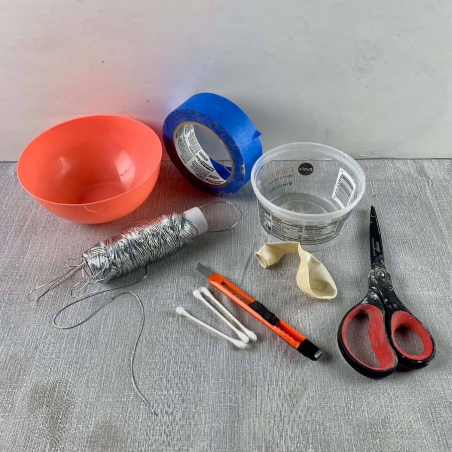 materials for making a textured concrete balloon bowl planter