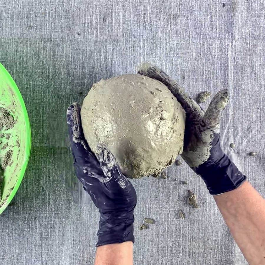 smoothing cement