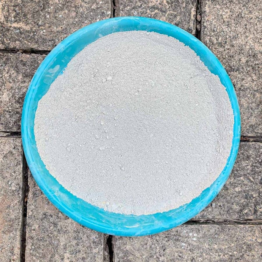 cement on plate that is very fine. contains very fine sand