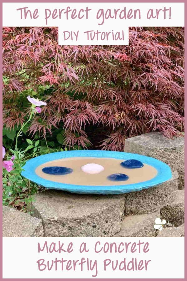 DIY Concrete Butterfly Puddler