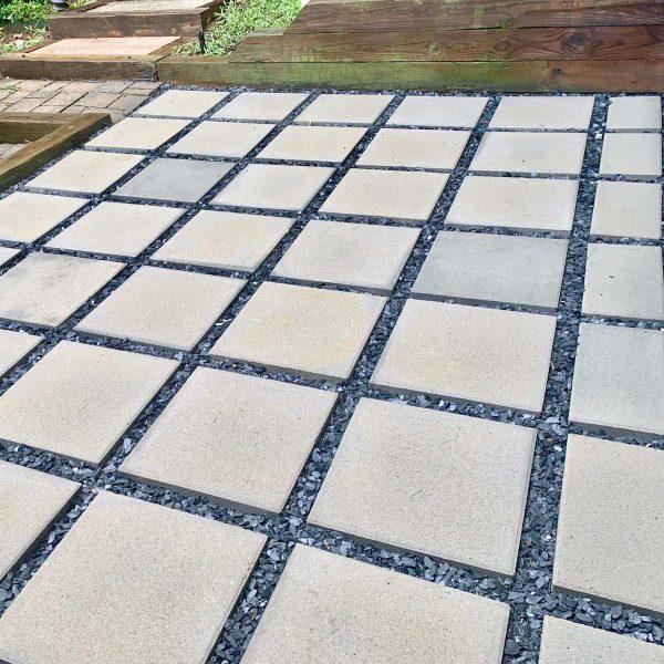 Concrete Paver Patio - finished project