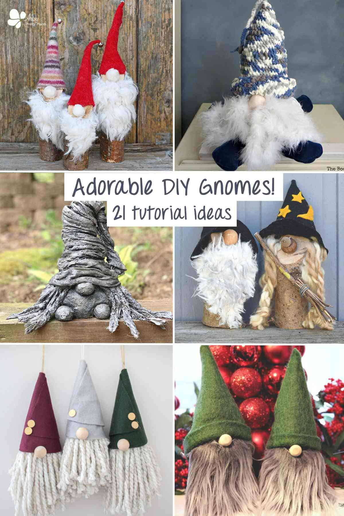 DIY Gnomes-DIY Gnomes-6 sets of different handmade gnomes.