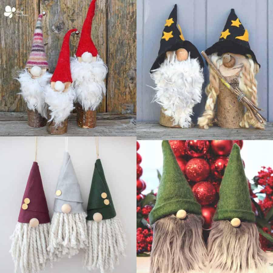 DIY Gnomes-4 sets of different handmade gnomes.