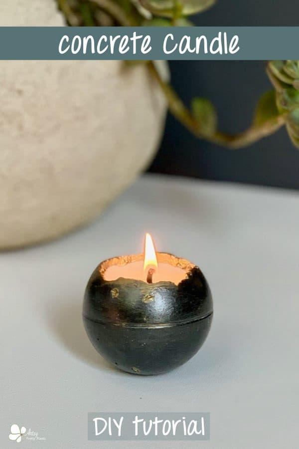 Concrete Candle DIY
