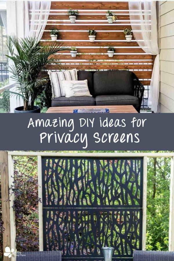 DIY backyard privacy screens