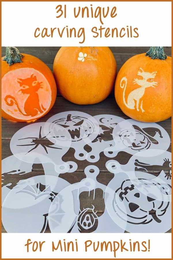 Mini Pumpkin Stencil For Carving