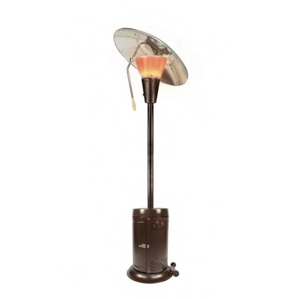 mushroom shaped patio heater with angled head